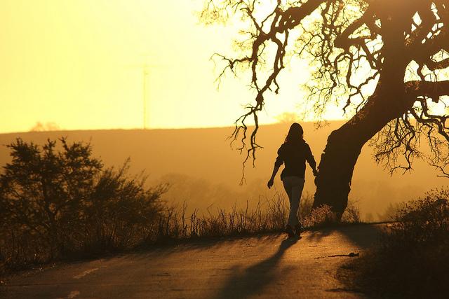 Walking at Sunrise
