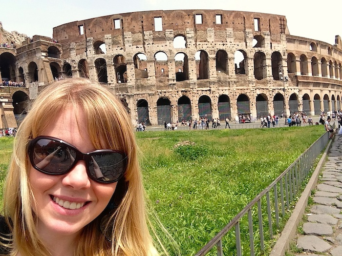 Lori Deschene at the Colosseum