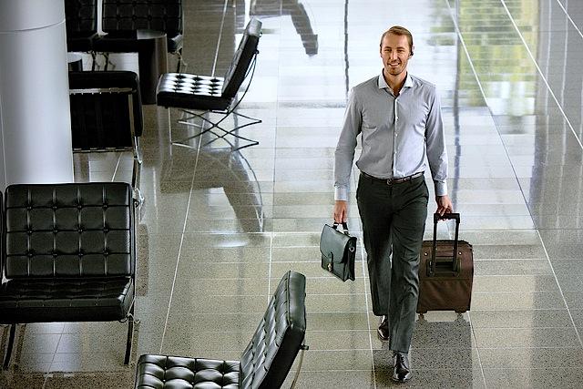 Walking Through Airport