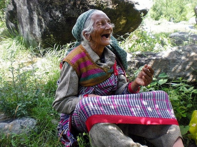 Happy Old Woman