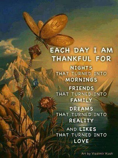 Each Day I Am Grateful For