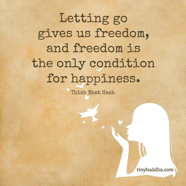 Letting Go Gives Us Freedom