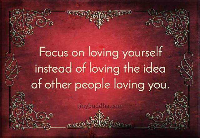 Focus on Loving Yourself