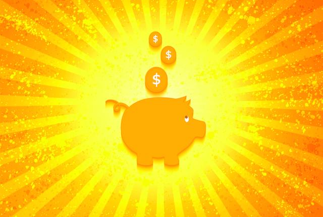 Piggy Bank in the Sun