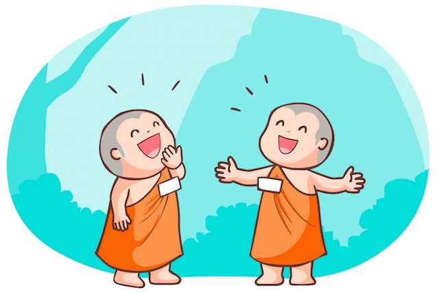 Little Monks Laughing