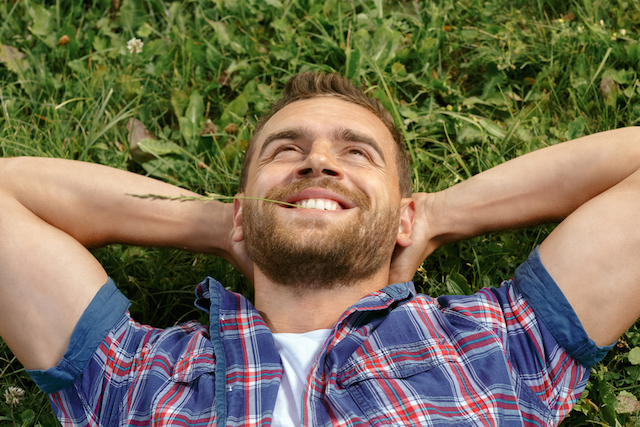 Man Lying in the Grass