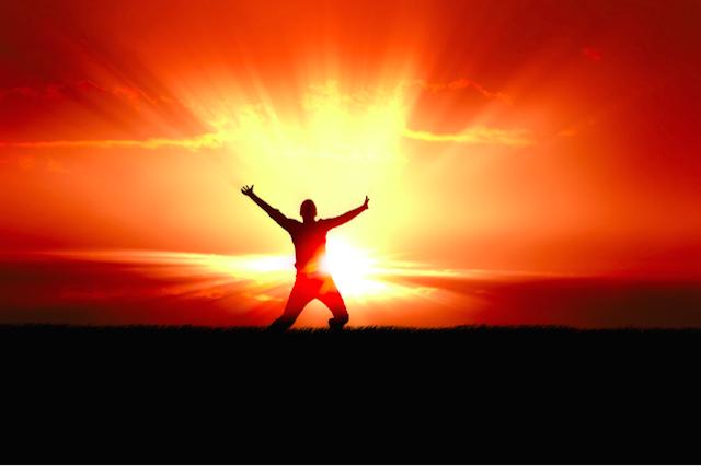 Man in Rays of Sun