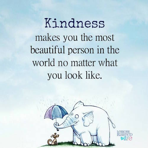 Kindness Makes You the Most Beautiful