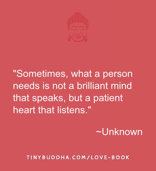 A patient heart that listens