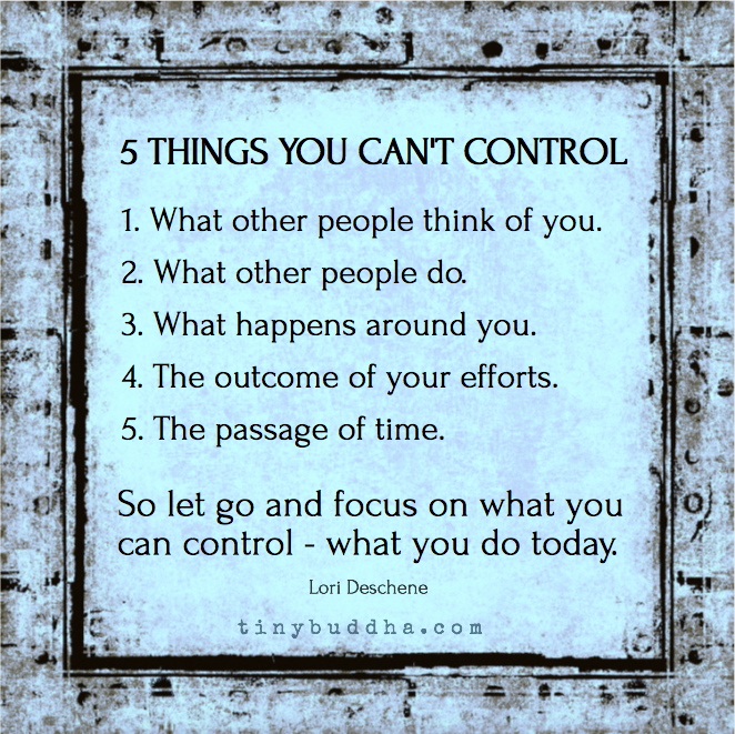 Things you can t control