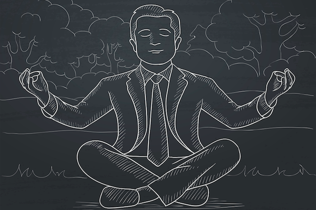 Chalkboard meditation drawing