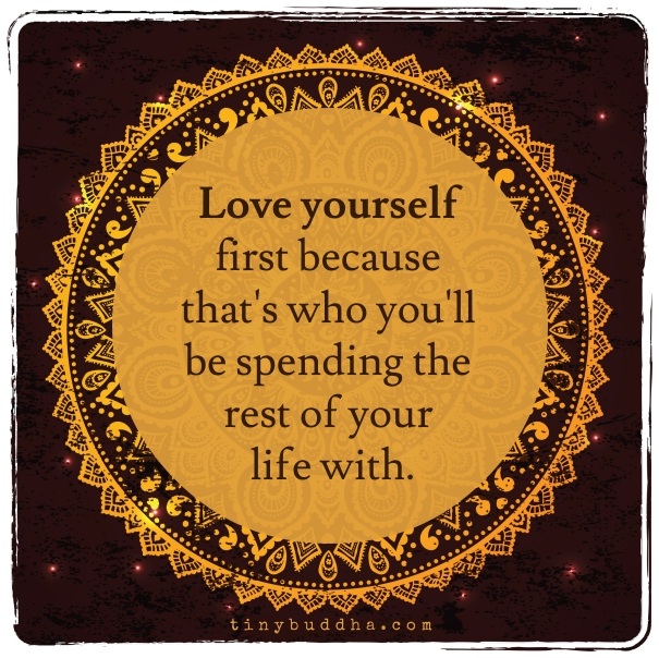 Speaking, love yourself first speaking