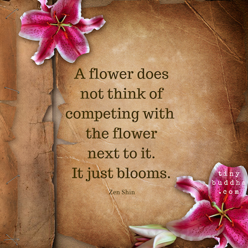 A flower does not compete with the flower next to it