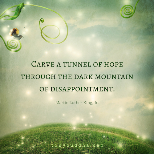A tunnel of hope