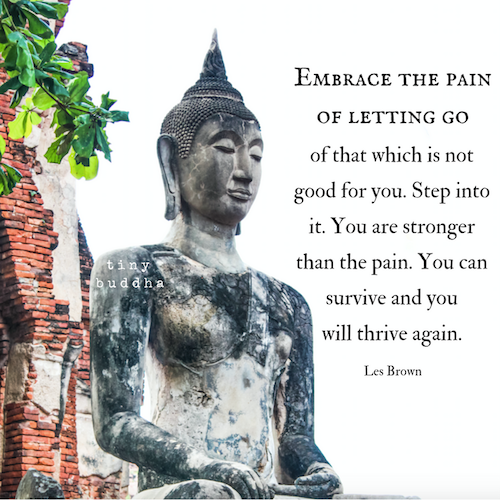 Embrace the pain of letting go