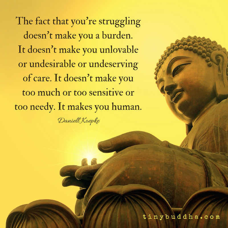 Wallpaper Buddha Quotes: Your Struggle Makes You Human