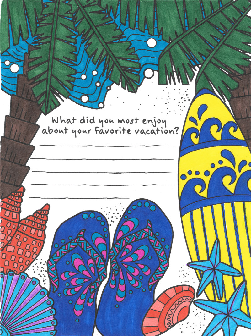 vacation coloring page from tiny buddha u0027s gratitude journal tiny