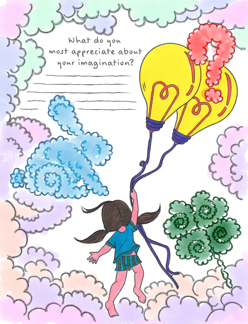 imagination coloring page from tiny buddha u0027s gratitude journal