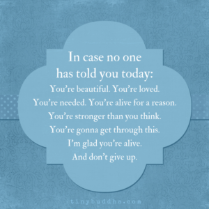 In Case No One Has Told You Today...