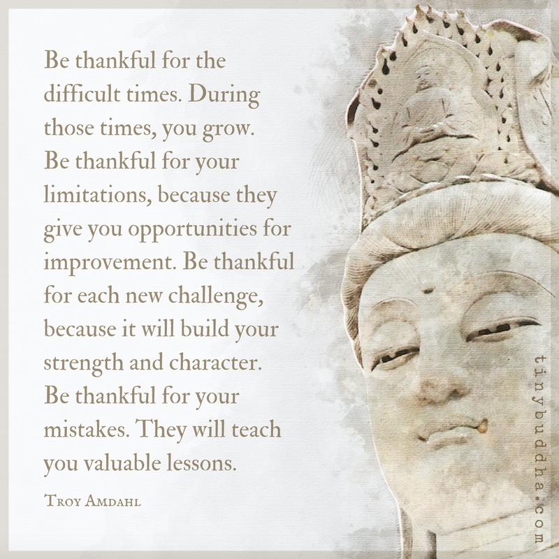 Gratitude Buddha Quotes: Sarah Burness's Blog: 20 Inspiring Gratitude Quotes And