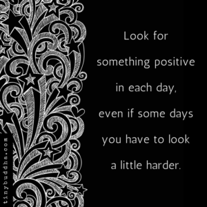 Look for Something Positive in Every Day