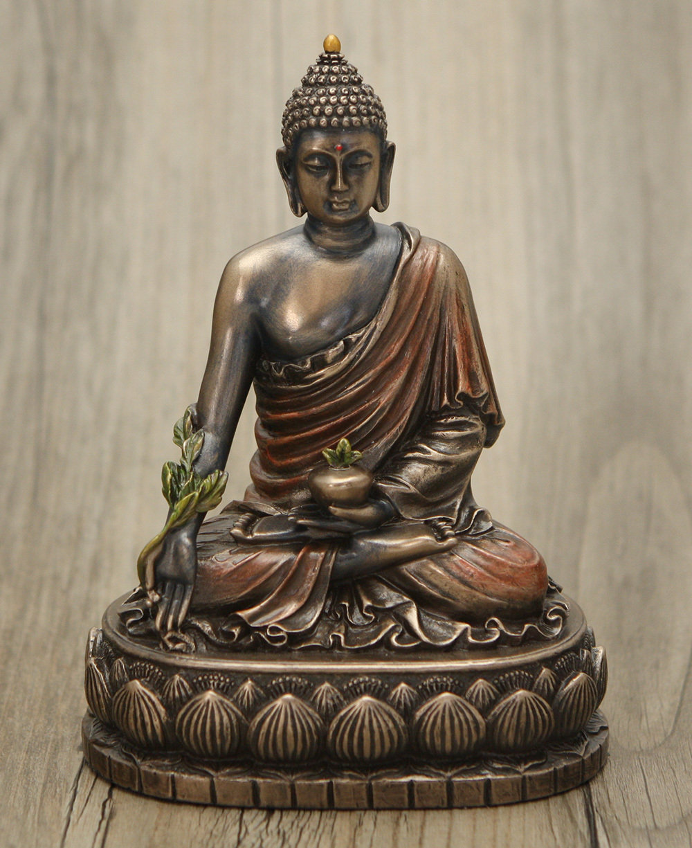 Statue de Bouddha en bronze coulé à froid