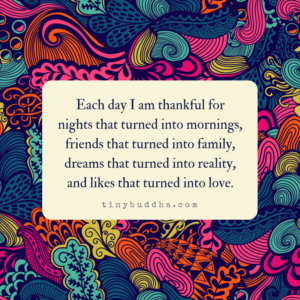 Each Day I Am Thankful For...