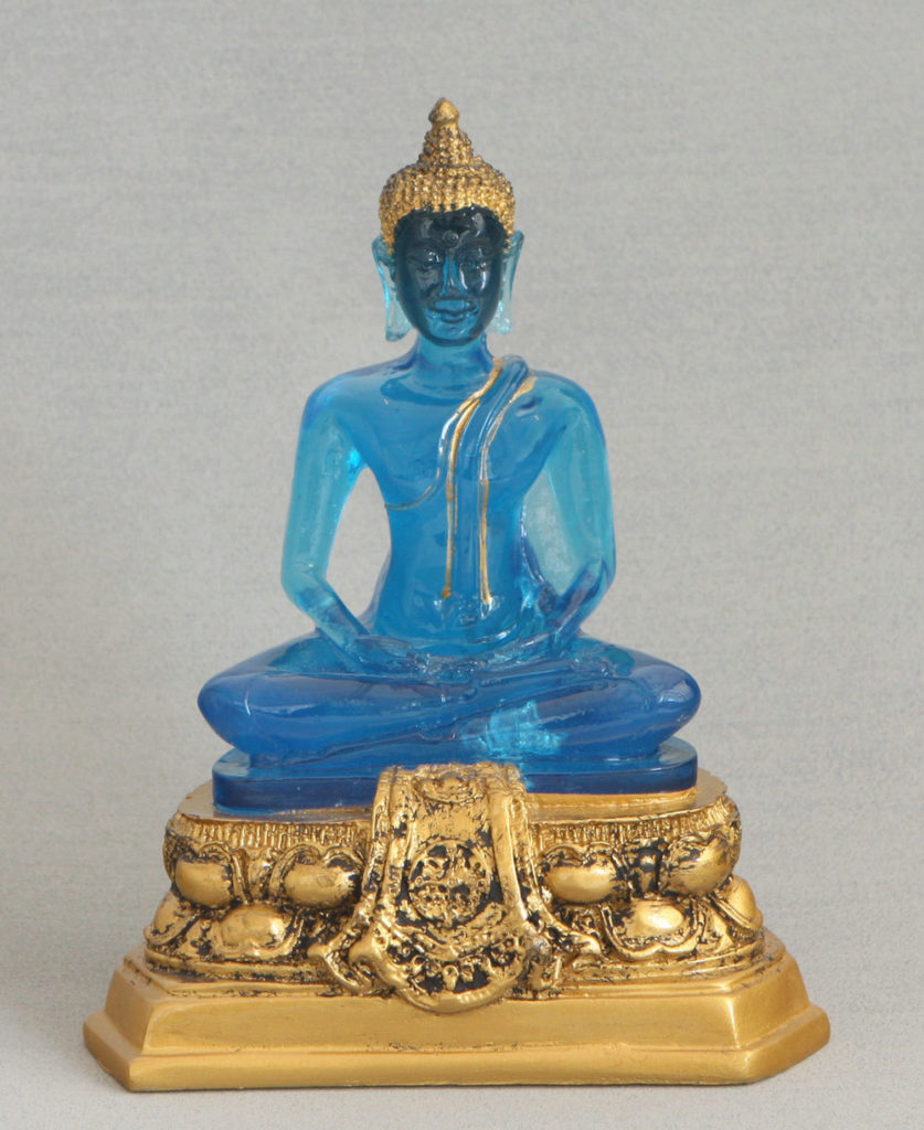 Translucent Blue Buddha Statue