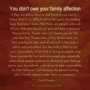 You Don't Owe Your Family Affection If They're Treating You Poorly
