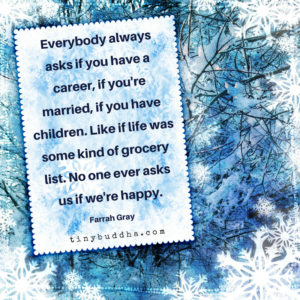 Life Isn't a Grocery List