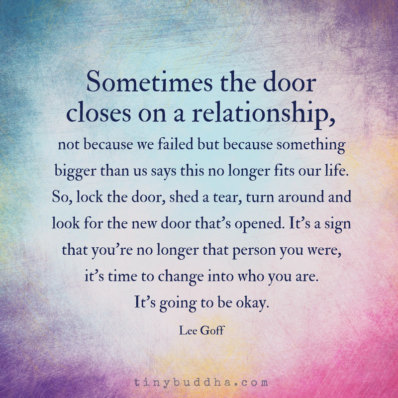 Sometimes the Door Closes on a Relationship  sc 1 st  Tiny Buddha & Sometimes the Door Closes on a Relationship - Tiny Buddha