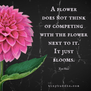 A Flower Doesn't Compete