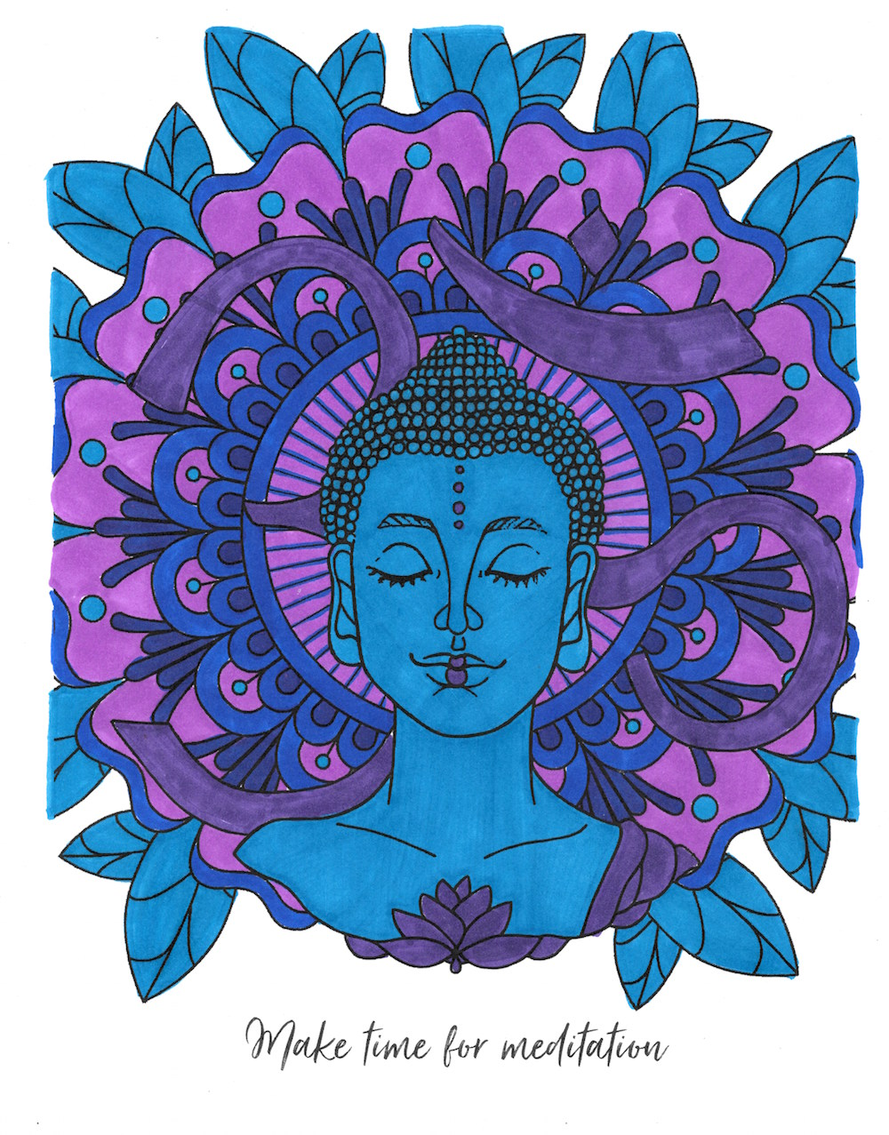 Meditation Coloring Page From Tiny Buddha S Worry Journal Tiny Buddha