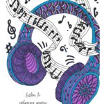 Music Coloring Page from Tiny Buddha's Worry Journal