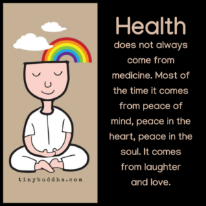 Health Doesn't Always Come from Medicine