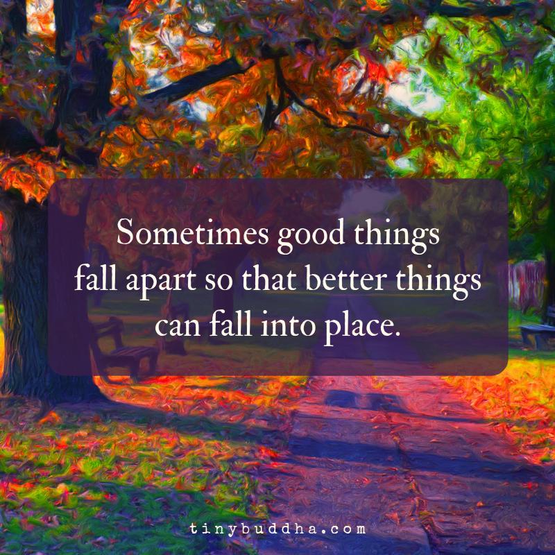 Things Fall Apart Author: Sometimes Good Things Fall Apart...