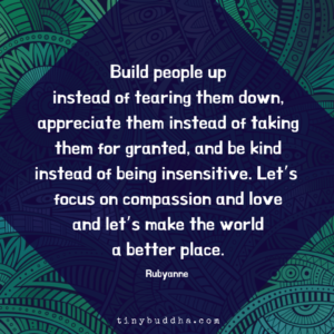 Build People Up Instead of Tearing Them Down