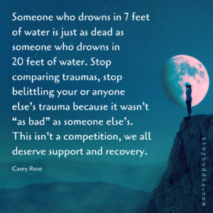 Stop Comparing Traumas