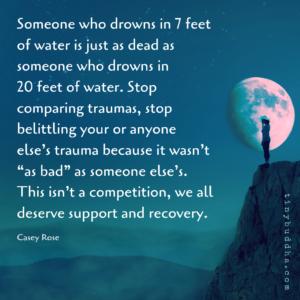 Stop Comparing Traumas