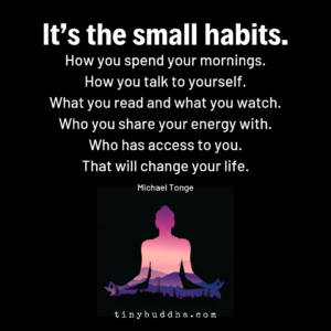 It's the Small Habits