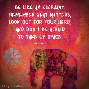 Be Like an Elephant