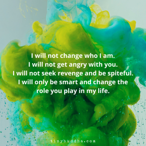 I Will Not Seek Revenge and Be Spiteful