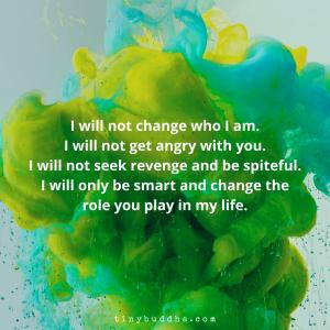 I Will Not Seek Revenge and Be Spiteful