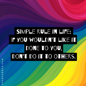 A Simple Rule in Life