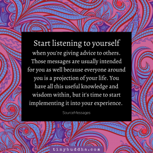 Start Listening to Yourself