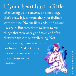 If Your Heart Hurts a Little After Letting Go