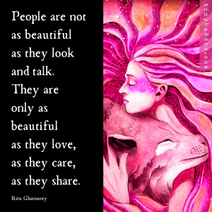 People Are Not as Beautiful as They Look and Talk