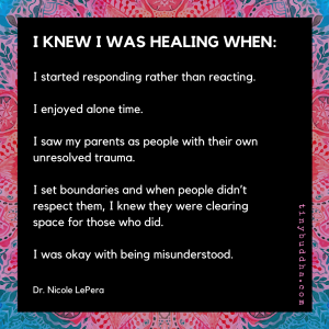 I Knew I Was Healing When...