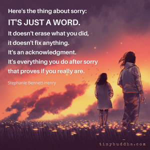 Here's the Thing About Sorry