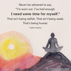 I Need Some Time for Myself
